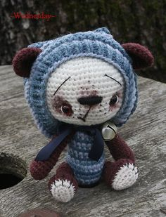 ~Wednesday~ a crocheted bear in amigurumi form