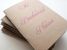 Wonderful idea!!  Bridesmaid planner...Who would have thought?