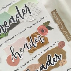 Bullet Journal Notes, Bullet Journal Aesthetic, Bullet Journal Writing, Bullet Journal School, Bullet Journal Ideas Pages, Bullet Journal Inspiration, Cute Notes, Pretty Notes, Hand Lettering Fonts