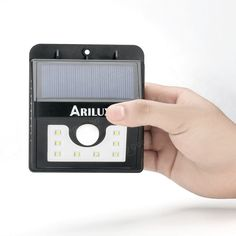 ARILUX™ AL-SL01 Super Bright 8 LED Solar PIR Motion Sensor Light Waterproof Outdoor Security Lamp Sale - Banggood.com