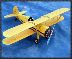 Boeing Stearman P-17 Biplane Free Airplane Paper Model Download - http://www.papercraftsquare.com/boeing-stearman-p-17-biplane-free-airplane-paper-model-download.html