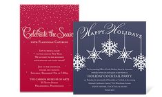Elegant hand lettering is surrounded by flourishes scripted fete scripted fete holiday party invitation corporate holiday par christmas holiday party invitations pinte stopboris Gallery