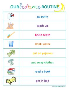 Toddler Bedtime Routine Chart | Sarnia Mom Source