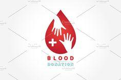 logotype blood donation @creativework247