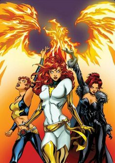 Phoenix Force. Jean grey, rachel summers.