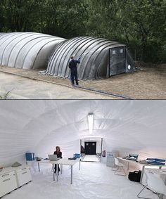 Concrete Tent Hardens When You Add Water, is Perfect from the Zombie Apocalypse - TechEBlog