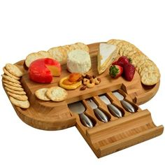 Shop for Deluxe Malvern Bamboo Cheese Board with Stainless Steel Tools. Get free delivery at Overstock.com - Your Online Kitchen & Dining Outlet Store! Get 5% in rewards with Club O! - 16480888