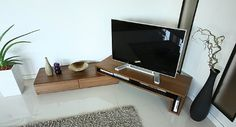 Amazon.co.jp: ウォールナット GS155TV-SP テレビ台 テレビボード コーナー 国産 60インチテレビ対応 伸縮自在 伸張式 セパレートタイプ テレビボード テレビ台 リビングボード モダン デザイナーズ 北欧 40・42インチ~46・52インチ推奨: ホーム&キッチン