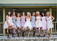 Miranda Lambert's mismatched 'maids   --- i think i really like the mismatched bridesmaids dresses!!!