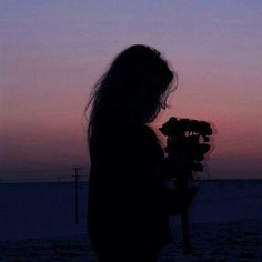 Silhouette photography shared by Lou☽ on We Heart It