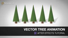 After Effects - Des arbres en vectoriel qui pop du sol