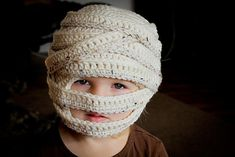 Ravelry: Mummy Halloween Hat (Sizes 6 mo to Lg. Adult) pattern by Tara Murray