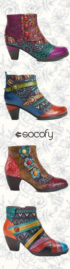 2108 newest fashion handmade Rereo printed leather boots.You deserve better.