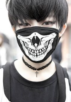 Most popular tags for this image include: boy, mask, asian, black and ulzzang Japanese Street Fashion, Tokyo Fashion, Harajuku Fashion, Japanese Streets, Asian Fashion, Harajuku Style, Face Fashion, Punk Fashion, Mouth Mask Fashion