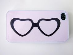 Pink Heart Glasses iPhone Case  Customizable by whiskeykittens, $20.00