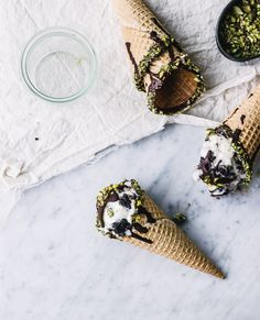 ... no-churn pistachio, mint and olive oil fudge brownie ice cream ...