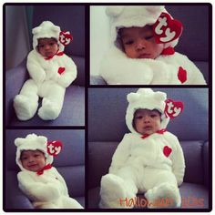 Infant Beanie Baby costume.