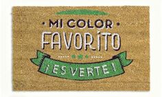"Felpudo ""Mi color favorito ¡es verte!"" [Spanish wordplay]"