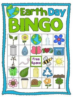 This adorable Earth Day Bingo pack includes a dozen different bingo game boards, materials to make your own boards, and calling cards! Earth Day Projects, Earth Day Crafts, Earth Day Activities, Preschool Activities, Earth Hour, Arbour Day, Classroom Fun, Spring Crafts, In Kindergarten
