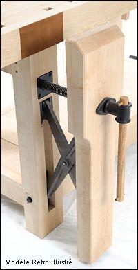 Mécanisme pour presse verticale parallèle Benchcrafted™ - Travail du bois