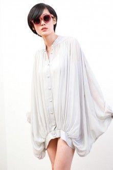 Anrealage Oversized Batwing Shirt Dress