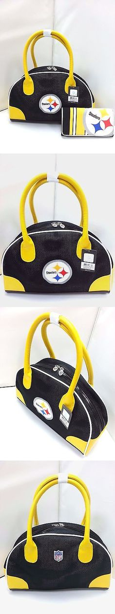 Other Baseball Clothing and Accs 159062: Nfl Pittsburgh Steelers Bowler Purse With Organizer Mesh Wallet -> BUY IT NOW ONLY: $49.99 on eBay!