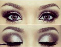 Silver and pewter eyes