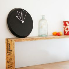 """Perspective Clocks // D Clock By Shay Carmon and Ben Klinger $74.99 Product Details — Sweep Movement  — Material: Metal Base, Metal Hands  — Diameter: 9.1"""", 23cm  — Power: AA Battery (Not Included)  Colors Black Materials Metal Hands, Metal Base Measurements 9.1"""" Dia Origin Israel"""