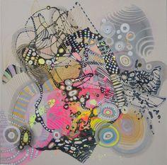 Dyptyk abstrakcje obrazy olejne Majchrzak 100x50