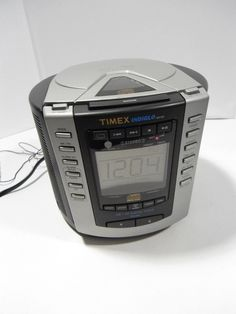 VINTAGE Timex CD AM/FM Radio Alarm Clock w/ Nature Sounds & Indiglo night light  #Timex