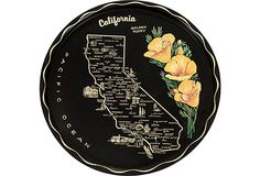 A vintage California tray, how lovely are those poppies?