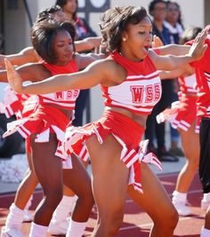 Winston Salem State Cheerleaders