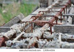 old construction site by via Shutterstock Garden Bridge, Construction, Outdoor Structures, Stock Photos, Recycling, Building