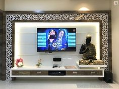 Modern TV unit designs unit partition TV unit design for living room 2019 Modern Tv Unit Designs, Living Room Tv Unit Designs, Ceiling Design Living Room, Room Door Design, Home Room Design, Tv Cabinet Design Modern, Tv Wall Design, Modern Tv Room, Modern Tv Wall Units