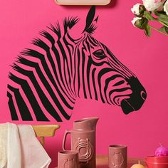 Zebra Animal Stylish Wall Stickers / Wall Decals / Wall Art Murals Large Big new RA24