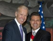 The vice president was in Mexico Saturday to attend the swearing-in ceremony of Mexicos President-elect Enrique Pena Nieto.