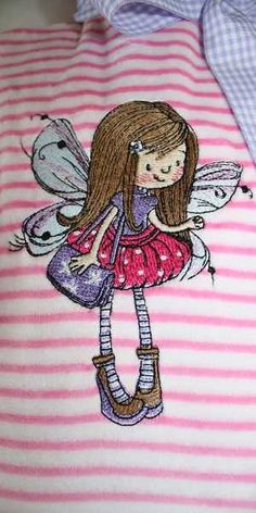 Little Fairy gold hair embroidery