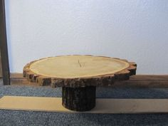this for a cake stand... and either the log underneath as seen here... or my mason jars underneath??