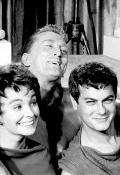 Jean Simmons, Kirk Douglas and Tony Curtis ~ Spartacus, 1960
