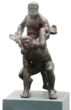 """Pankration - From Greece: meaning """"all powerfull"""" - a mixed martial art of ancient Greece that was first introduced into the Olympic Games in 648 B.C., at the 33rd Olympiad. The art was founded as a blend of boxing and wrestling but with almost no rules save disallowing biting and gouging the opponent's eyes out. The term comes from the Greek παγκράτιον [paŋkrátion], literally meaning """"all powers"""" from πᾶν (pan-) """"all"""" + κράτος (kratos) """"strength, power""""."""