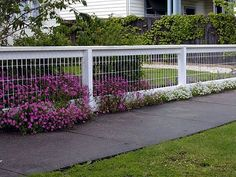 classic white fence
