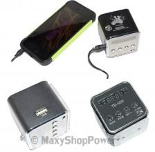 ALTOPARLANTE RADIO SPEAKER TD-V26 3W USB MICROSD UNIVERSALE JACK 3,5MM BLACK NERO - SU WWW.MAXYSHOPPOWER.COM