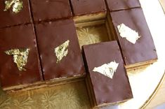 """This year for our New Year's Eve meal, we will be having Opera Cake for dessert.  The challenge, of course, is to make this lavish dessert sugar free.  We may also """"fudge"""" the 23k gold leaf and opt for using gold glitter or some other edible decoration."""