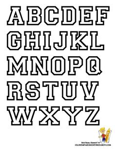 Printable free alphabet templates pinterest alphabet templates free alphabet letter print out college alphabet coloring college sports alphabet free sports spiritdancerdesigns Image collections