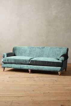 Slub Velvet Willoughby Sofa, Wilcox