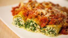 Une recette de cannelloni végétarien au fromage cottage, présentée sur Zeste et Zeste.tv