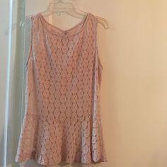 590de1993cf2d Blush Crochet Peplum Sleeveless Top Size M Blush Crochet Peplum Sleeveless  Top Size M Tops Tank