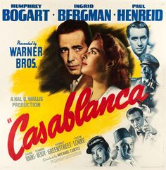 A six sheet movie poster for Casablanca, one of just two copies known, 81 by 81 inches, realized $107,550.