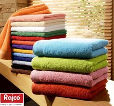 For One and all! Soft and fluffy towels in vibrant colors waiting at #rajcohandloom.