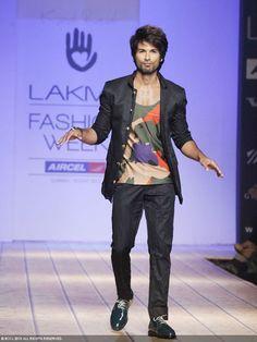 Shahid Kapoor for Kunal Rawal  https://www.facebook.com/dstressbykunalrawal @ Lakme Fashion Week, 2013